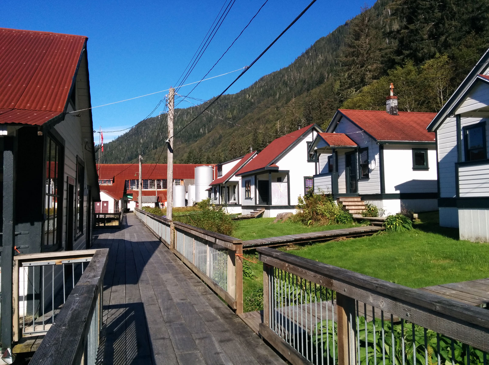 Cannery housing at the North Pacific Cannery.