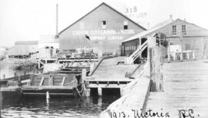Cannery buildings viewed from dock.